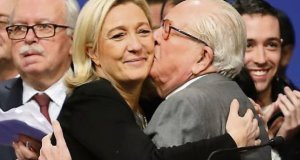 Marine Le Pen with father Jean-Marie Le Pen